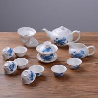 13件套功夫茶具套�b茶杯茶�卣�套陶瓷茶具家用茶具�w碗白瓷陶瓷�F代��s�w碗喝茶�� 多�x��