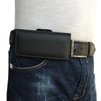 手机腰包 手机挂腰套 穿皮带皮套 华为 苹果OPPO vivo 男士挂腰壳 p 苹果6S (5.5)寸