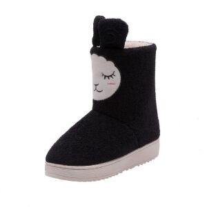 O'SHELL法国欧希尔新品冬季113-X-8150韩版磨砂绒面平跟女士亲子雪地靴