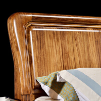 乌金木家具中式实木米双人床米现代简约高箱主卧储物家具 +2床头柜 1800mm*2000mm 气压结构