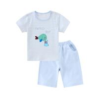 小猪班纳童装男童圆领短袖T恤休闲运动套装外穿短裤夏季儿童新款