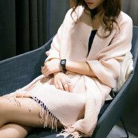 流行流苏时尚保暖百搭可爱学生韩版披肩两用纯色围巾女