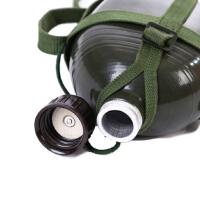 军用水壶老式87铝制户外水壶加厚大容量1.2L军迷用品保温水壶耐摔耐磨战术壶绿色户外军迷壶 1.5升