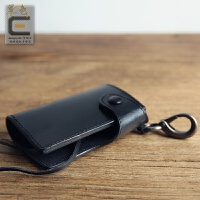 男士牛皮腰挂钥匙包真皮多功能卡包钥匙扣腰式包女零钱包一体包