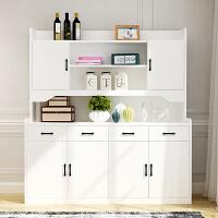 欧式餐边柜现代简约厨房柜子储物柜带门茶水柜多功能酒柜家用碗柜