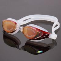 户外游泳镜防水防雾电镀 男女同款游泳眼镜大框舒适泳镜