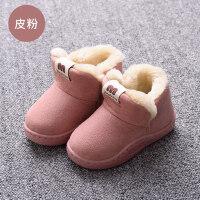 宝宝棉拖鞋1-3岁包跟男童2儿童室内女童小孩秋季棉鞋可爱