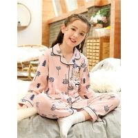 女童睡衣长袖薄款春秋季纯棉宝宝小孩亲子母女套装秋冬儿童家居服