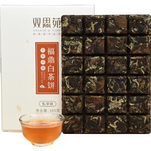 祺彤香茶叶 正宗福鼎白茶 5年老白茶贡眉 巧克力茶饼24泡礼盒装