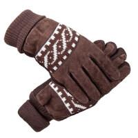 手套男保暖全指骑行摩托车加厚防寒棉手套触屏手套皮手套