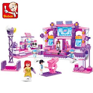 【当当自营】小鲁班粉色梦想女孩系列儿童益智拼装积木玩具 梦想舞台M38-B0255