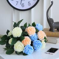 假花牡丹仿真花 家居客厅装饰干花 餐桌摆件玫瑰花束婚庆花瓶插花
