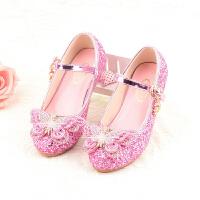 女童高跟鞋小公主表演鞋春秋儿童皮鞋女童单鞋韩版水晶鞋