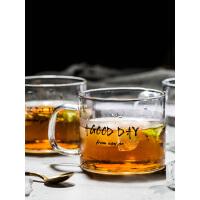 摩登主妇日式创意字母马克杯玻璃杯茶杯家用杯子水杯奶茶杯果汁杯