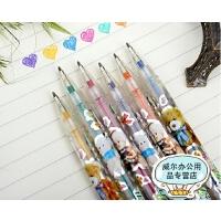 Y631 6色 12色 24色卡通熊闪光笔 荧光笔 创意学生奖品活动礼品涂鸦笔 儿童绘画涂鸦彩色荧光笔彩色笔