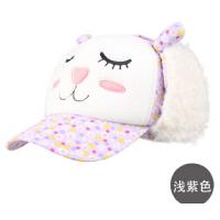 秋冬女童护耳帽可爱卡通造型帽儿童帽子冬季宝宝鸭舌帽适合3-6岁