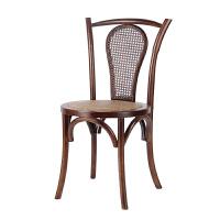 美式复古实木椅子餐椅餐厅家用靠背椅新中式简约休闲酒店饭店桌椅
