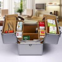 药箱便携式户外应急救援铝合金医药箱收纳急救箱出诊箱家庭药箱含药