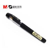 晨光文具 黑金大容量加粗大笔画水笔签字笔 1.0MM AGPA2502【黑色12支装】