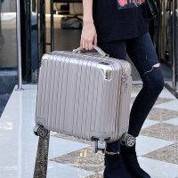 迷你登机箱18寸行李箱包女士24小型旅行箱子商务拉杆箱男20寸韩版 土豪金(款) 豪华镜面