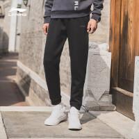 李宁卫裤男士2018新款训练系列长裤裤子男装冬季收口针织运动裤AKLN861