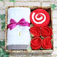 【满99立减50 仅限一天】物有物语 母亲节礼物 创意结婚回礼毛巾礼盒公司送客户企业活动纪念