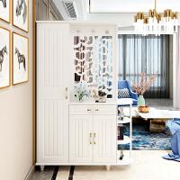 双面玄关柜隔断柜客厅镂空屏风现代简约入户鞋柜间厅柜门厅柜玄关 组装 框架结构