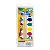 保税区发货 Crayola绘儿乐 16色可水洗固体颜料  3岁以上 海外购