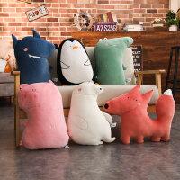 卡通抱枕动漫公仔客厅沙发靠垫毛绒玩具可爱韩国搞怪懒人睡觉抱枕