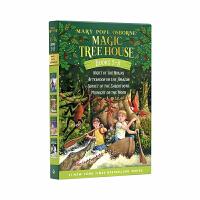 Magic Tree House Boxed Set 神奇树屋第5-8部盒装 英文原版读物 (Mary Pope Osborne)忍者之夜 亚马孙河下午 剑齿虎的日落 和月光下的午夜