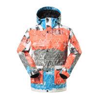 滑雪服韩国单板滑雪衣防水透气冲锋衣涂鸦 1504-003