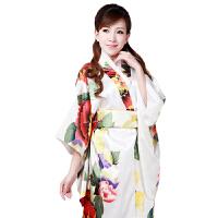 秋冬时尚唐装舒适长袖民族服饰和服和服舞台表演服装日本女士正装日本武士服装 休闲衣裤