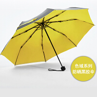 COHS 零透光黑胶晴雨伞防紫外线防晒UPF50+太阳伞色域CS601 (柠檬黄)