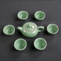 功夫茶套装草青禅整套家用茶道盖碗茶壶茶杯实用茶具配件水杯杯子
