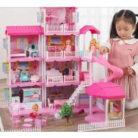 糖米公主屋芭比娃娃别墅套装城堡公主女孩玩具过家家生日礼物