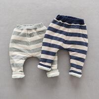 宝宝加绒裤子男1-3岁婴儿冬季长裤百搭潮款小小童长裤可开档2