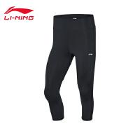李宁运动裤女士训练系列2020新款夏季紧身七分运动裤AUQQ008