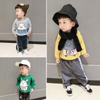 1-3-5岁女童宝宝长袖卡通卫衣秋装圆领上衣套头衫婴儿纯棉t打底衫