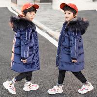 中长款儿童冬装韩版中大童装男童金丝绒棉袄外套