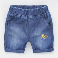 男童牛仔短裤热裤中裤 2018夏装韩版新款童装 宝宝儿童裤子