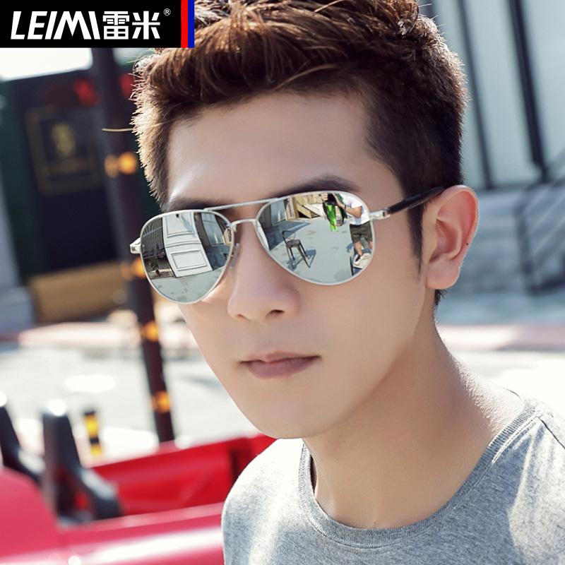 新款偏光太阳镜男士蛤蟆镜女开车专用眼镜潮圆脸墨镜防紫外线