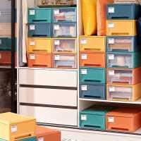 收�{箱抽�鲜�纫率占{盒塑料衣柜透明整理箱家用�ξ镆路�收�{柜子