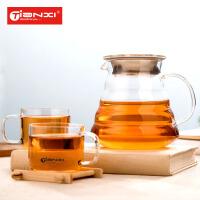 天喜玻璃茶壶冷水壶耐热过滤防漏水壶水杯果汁壶大容量防爆凉水壶