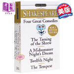 【中商原版】英文原版Signet Classics Four Great Comedies 莎士比亚四大喜剧Shake