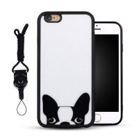 iPhone6手机壳 苹果6plus保护壳挂绳6s外壳情侣硅胶防摔卡通6女款