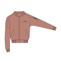 【361度开学季 1件5折】361度女装2018冬季新款运动服女 绒里夹克