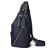 胸包男士单肩包斜挎包学生户外牛津布运动帆布包休闲背包男包潮包SN6336 迷彩蓝色
