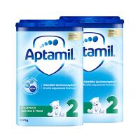 【2段普通】保税区发货 德国Aptamil爱他美 德爱普通婴幼儿奶粉 二段(6-10个月) 800g*2罐 海外购