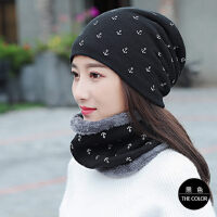 帽子女韩版潮加绒保暖毛线帽骑车防风加厚针织帽休闲百搭棉帽子