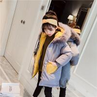 儿童韩版加厚两面穿棉衣外套小女孩棉袄女童洋气冬装
